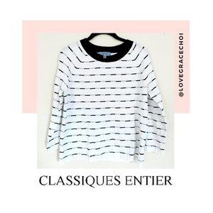 Classiques Entier | B&W Quilted Sweater Top